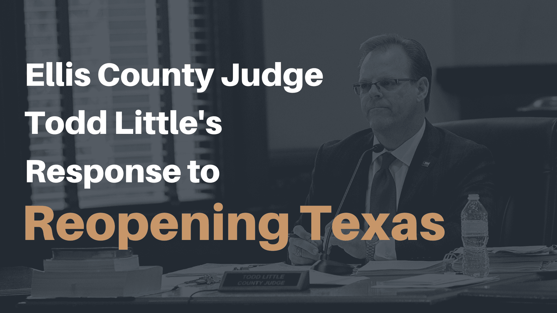 Judge Littles Response to Reopen Texas