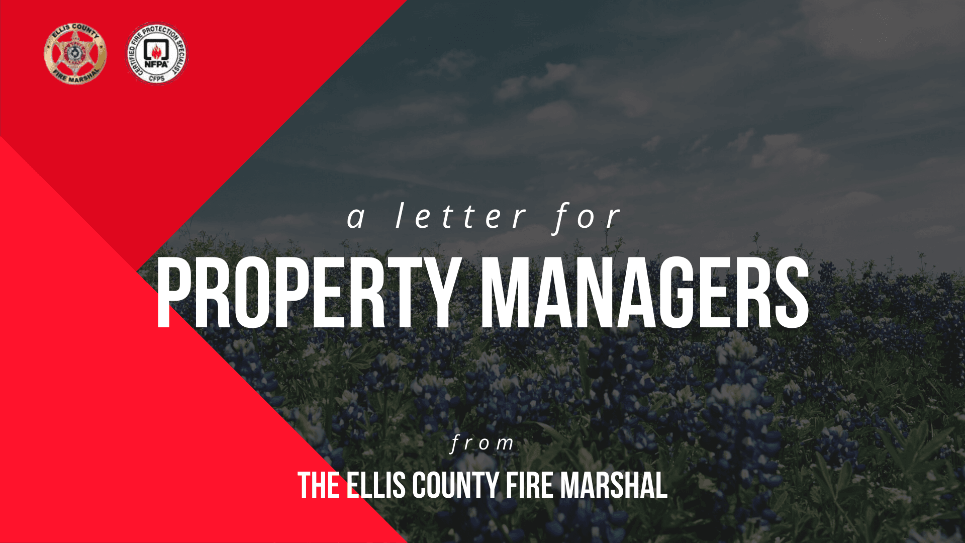 Letter For Property Managers