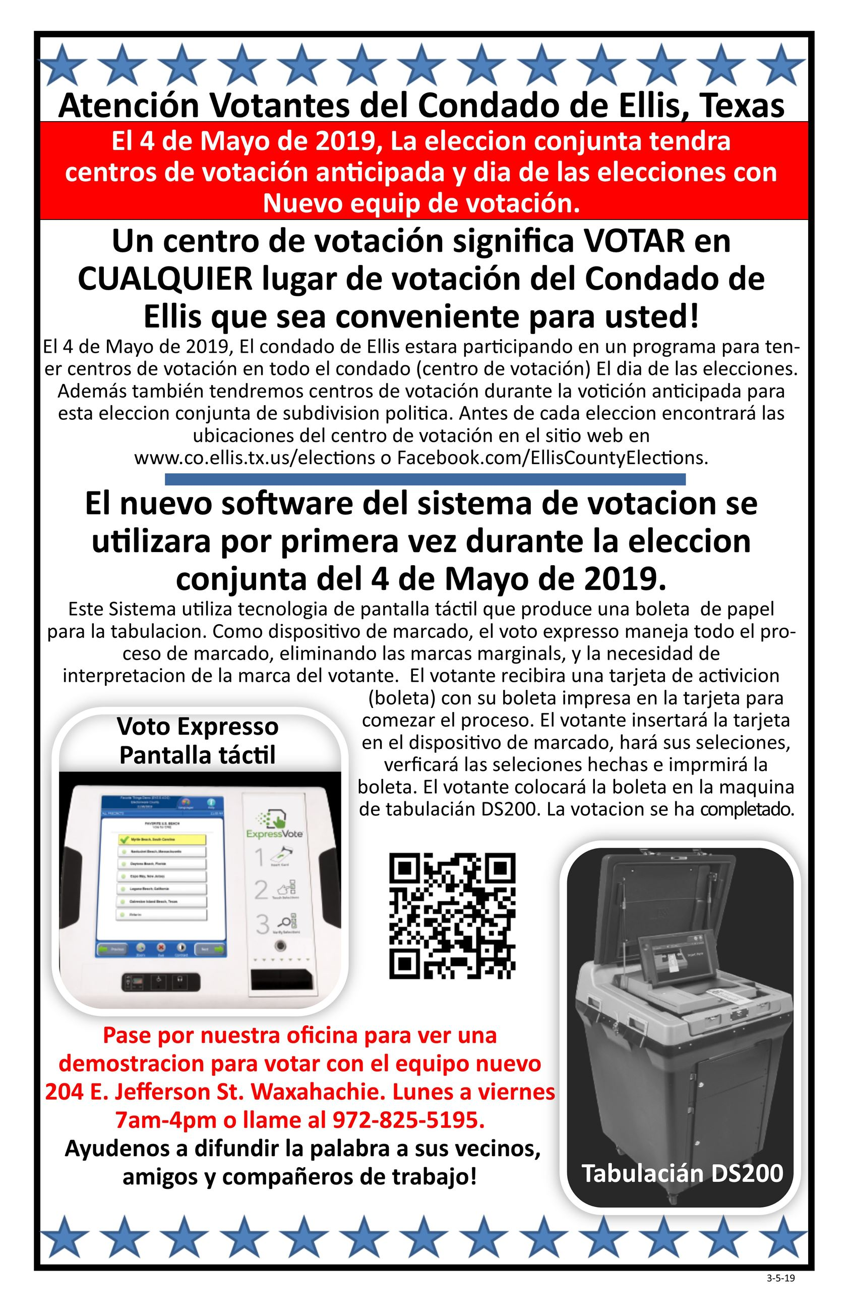 Flyer for voter about Vote Center 11x17