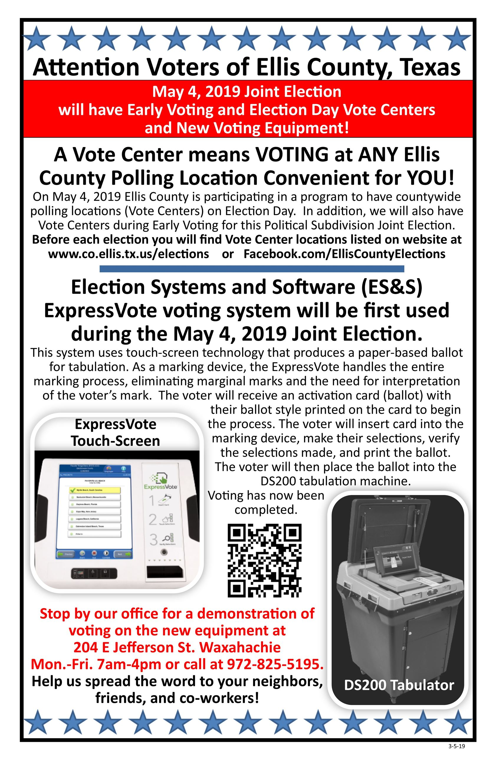Flyer for voter about Vote Center 11x17 English